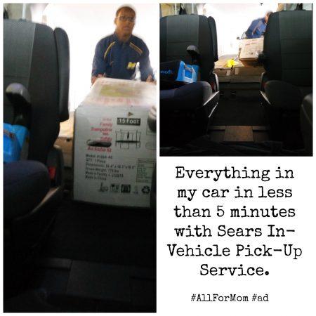 Sears #AllForMom In-Vehicle Pickup