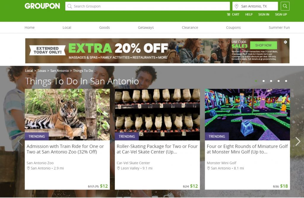 Things to Do Groupon