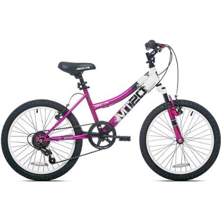 The Kent MT20 hardtail mountain bike gives kids all the advanced features of an adult mountain bike at a size that's right for them.