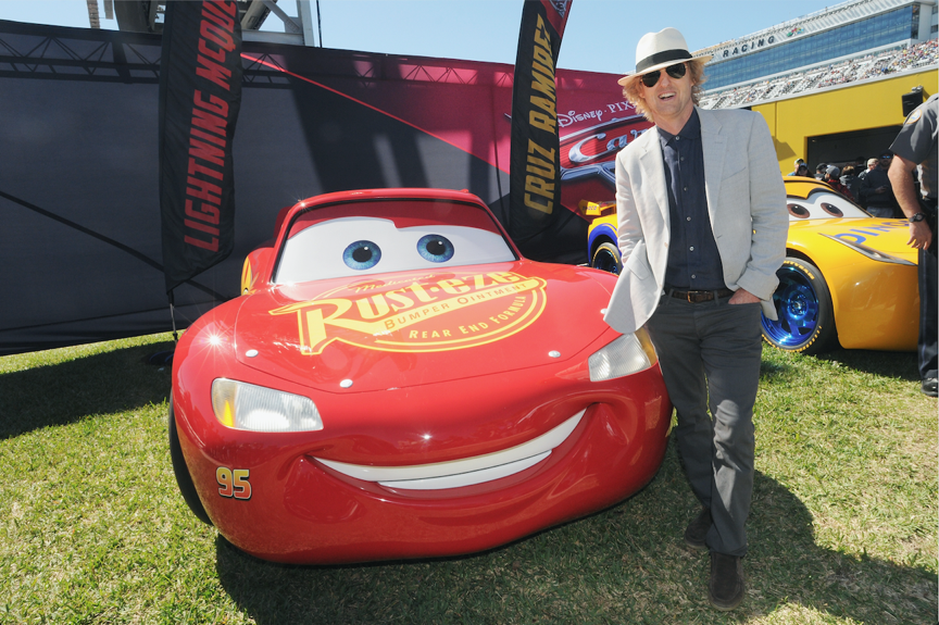 """Yesterday, Owen Wilson (voice of """"Lightning McQueen"""") served as Grand Marshall for the 59th annual Daytona 500 in celebration of CARS 3!"""