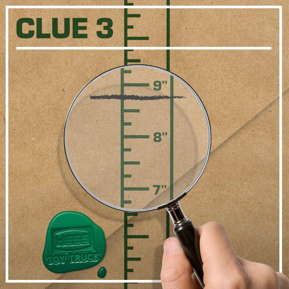 Tomorrow (Saturday 4/1) at 10:00 AM Hess will post the next clue about its new surprise – this is the 5th clue in the series. The post will go live to Hess Toy Truck's Facebook, Twitter and Instagram pages.