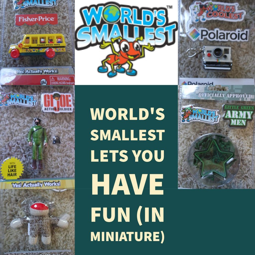 When you think about toys you think about full size toys that you can easily play with, but the World's Smallest Toy company has redefined the size of the toys that you have come to love and has brought back to life some favorites in miniature.