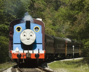Thomas Comes Into View at Day Out With Thomas
