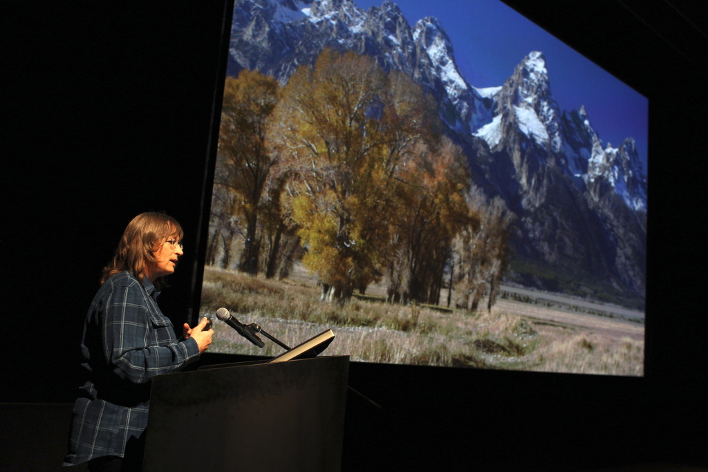 A press day for The Good Dinosaur, including presentations by Director of Photography - Lighting Sharon Calahan, as seen on October 1, 2015 at Pixar Animation Studios in Emeryville, Calif. (Photo by Deborah Coleman / Pixar)
