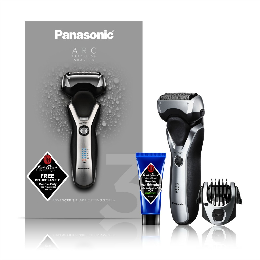 Panasonic's wet/dry Arc 3 shaver with pop up trimmer