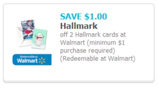 Hallmark Discounts at Walmart