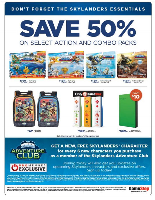 """Bringing in the new year with a bang Skylanders SuperChargers kicks off 2016 with an exclusive """"Skylanders Day"""" deal at Game Stop. This Saturday, January 9th at participating Game Stop locations nationwide, Portal Masters can take advantage of some amazing BOGO deals."""