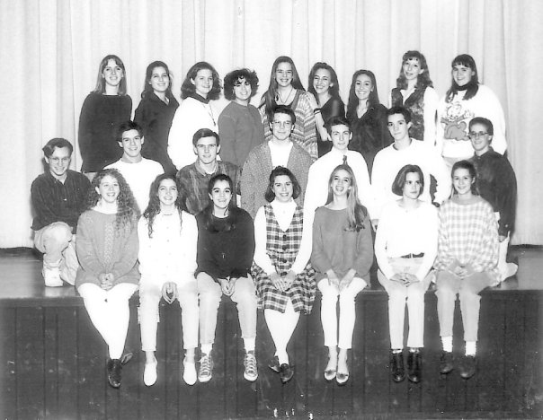 Officers within the high school drama club when Chris Lewis was the President of the club
