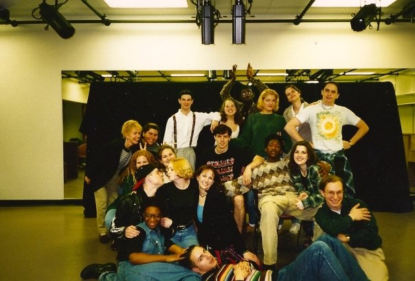 A photo of students in the Acting class that I was in during college at Western Michigan University