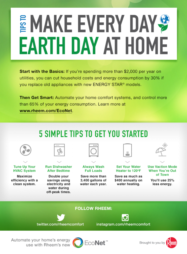Rheem Earth Day Tips