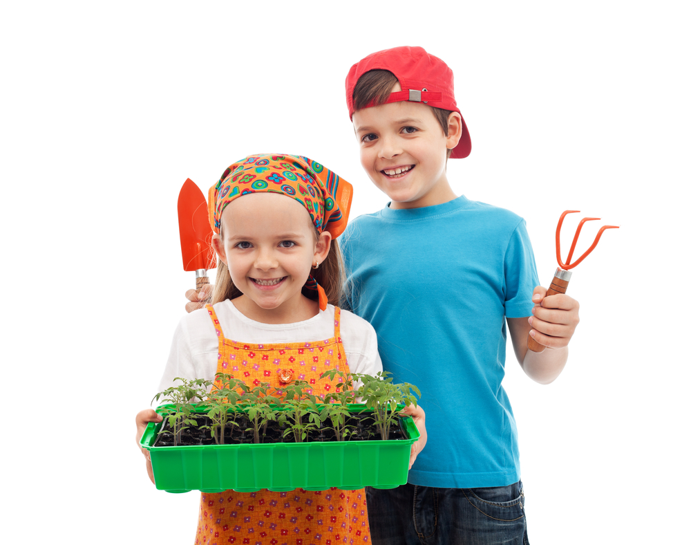 Gardening will allow children to play in the dirt while learning how to eat right, and the process of photosynthesis while developing their bodies.