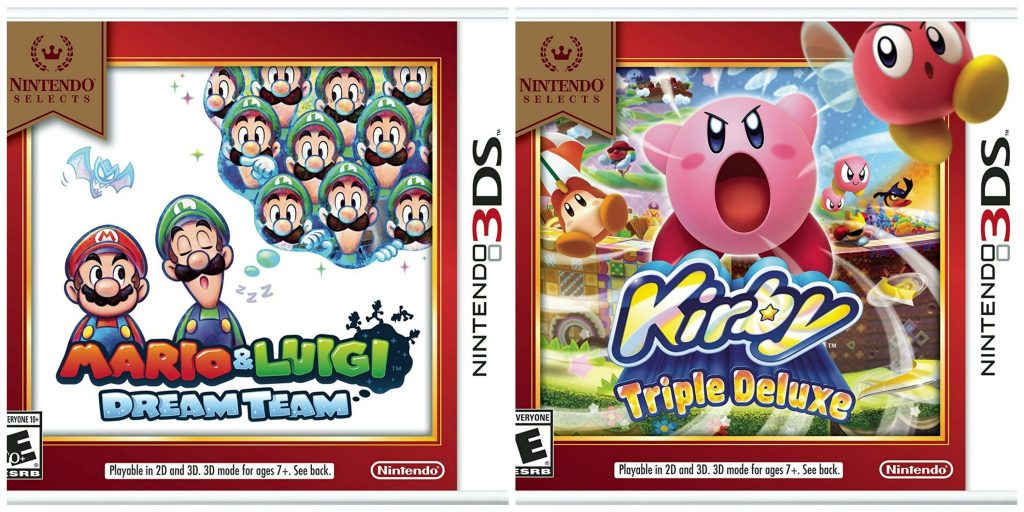 New Nintendo Games of Kirby: Triple Deluxe and Mario & Luigi Dream Team.