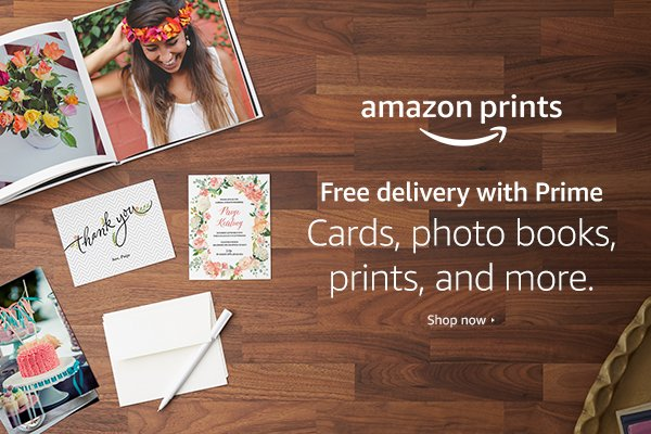 Amazon has launched a photo printing service that allows all customers to print their memories. Prime members can upload images to their Prime Photos account, print the product of their choice, and receive free delivery. If you're not a Prime member, you'll receive 5 GB of storage free on Prime Photos and be able to print your favorite photos. Prints start as low as $0.09.