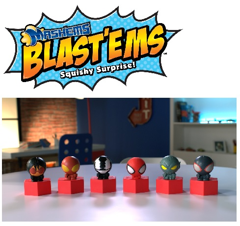 Mash'ems Blast'ems deliver EXPLOSIVE fun! Just remove the lid, flip it over, bop the top and watch it blast!
