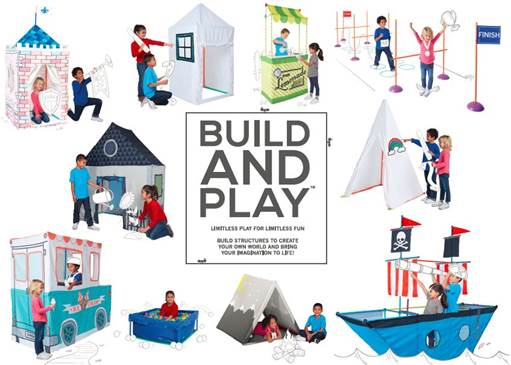 Playtime should be a time for kids to run around, stretch their legs and imaginations! With Summer finally here, we are excited to introduce you to Antsy Pants: a new line of Build & Play™ Kits that encourage limitless options of imaginative play for children.