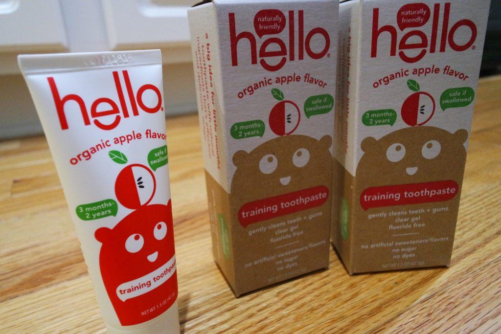 Hello Organic Apple Toddler Training Toothpaste