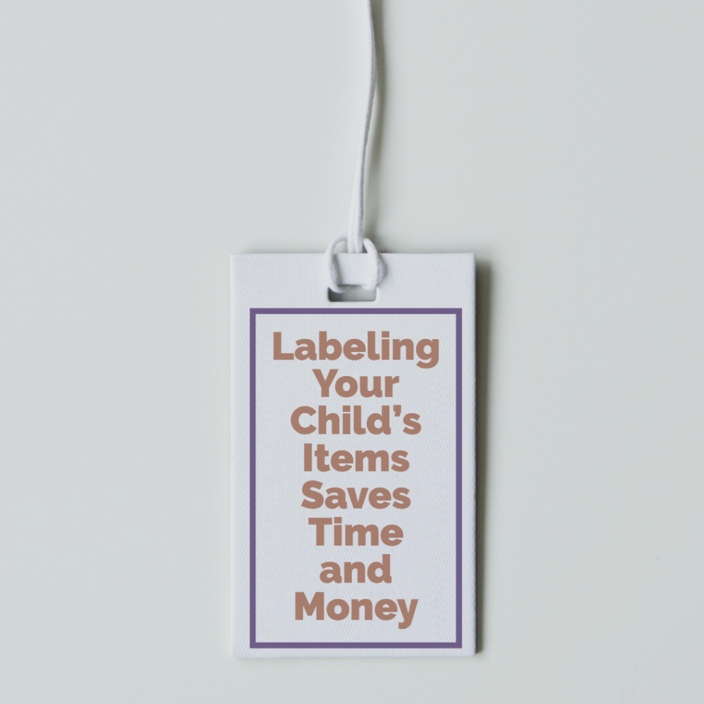 Labeling Your Child's Items