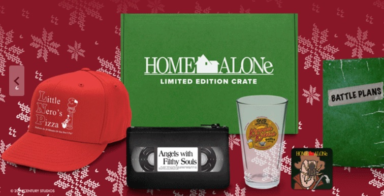 loot crate home alone holiday crate